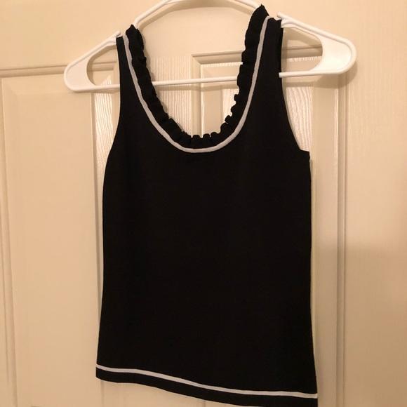 Cache Tops - Caché ruffle neck knit tank